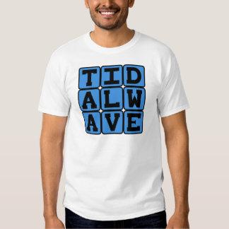 Maremoto, tsunami violento camisetas