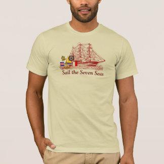 Mares da vela sete - t-shirt camiseta