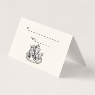 Marfim do cartão da escolta do lugar do serviço de