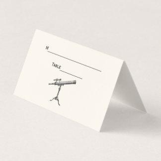 Marfim do cartão da escolta do lugar do telescópio