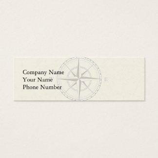 Marfim náutico do compasso do vintage cartão de visitas mini