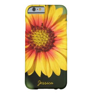 Margarida amarela brilhante, caixa personalizada capa barely there para iPhone 6
