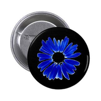 Margarida azul abstrata artística do Gerbera Bóton Redondo 5.08cm