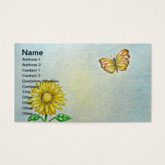 Margarida com borboleta cartão de visitas