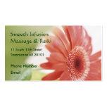 Margarida cor-de-rosa do Gerbera Cartão De Visita