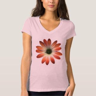 Margarida coral no impressão do couro de Shell Camiseta