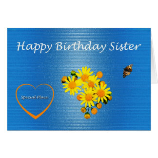 Margarida da irmã do feliz aniversario cartão comemorativo