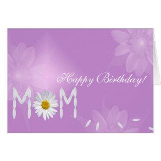 Margarida do aniversário para a mamã cartão comemorativo