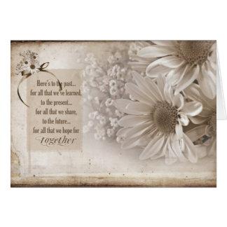 Margarida do aniversário para o esposo cartão comemorativo