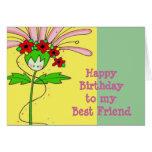 Margarida do feliz aniversario cartões