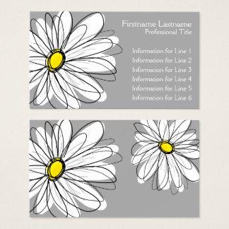 Margarida lunática - cinza amarela cartão de visitas