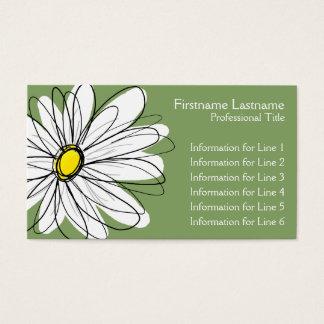 Margarida lunática - verde amarelo cartão de visitas