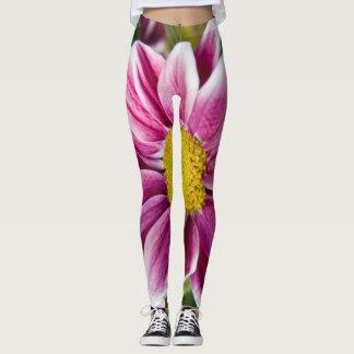 Margarida roxa leggings