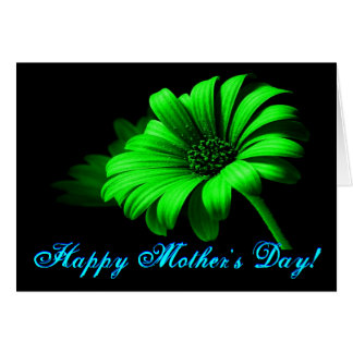 Margarida verde-clara do dia das mães feliz IV Cartão Comemorativo