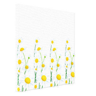 Margaridas Arte-Brancas da parede das canvas