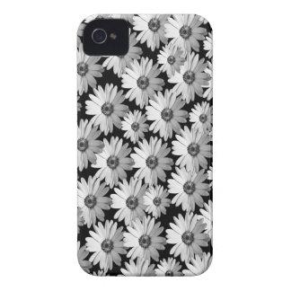 Margaridas brancas pretas de n capinhas iPhone 4