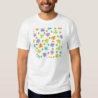 Margaridas coloridos e foto floral das folhas camisetas