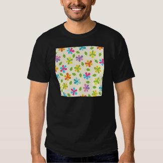 Margaridas coloridos e foto floral das folhas tshirt