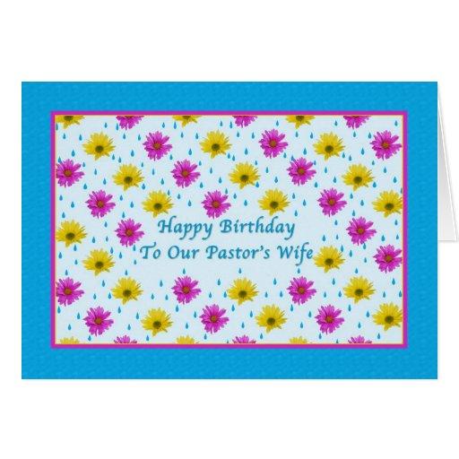Margaridas do aniversário, da esposa do pastor, as cartao