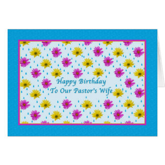 Margaridas do aniversário, da esposa do pastor, as cartão comemorativo