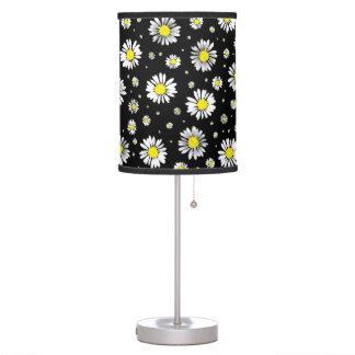 Margaridas - lâmpada floral preta