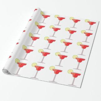 Margarita vermelha papel de presente