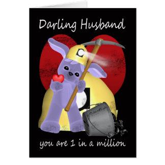 Marido - cartão do dia dos namorados do filhote de