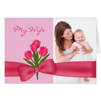 Marido cor-de-rosa bonito ao cartão do dia das