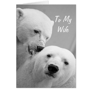 Marido dos ursos polares ao cartão do aniversário