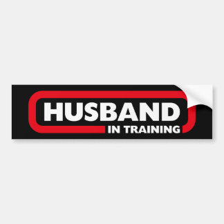 Marido no treinamento adesivo para carro