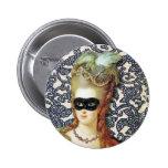 Marie Antoinette atrás da máscara, arte original Botons