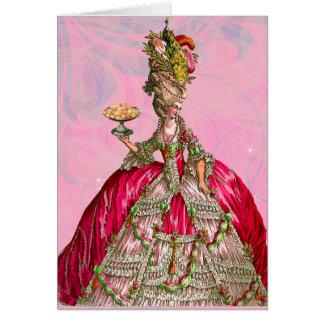 Marie Antoinette deixou-os comer o bolo Cartões