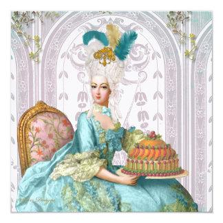 Marie Antoinette deixou-os comer o bolo Convite