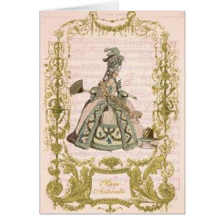 Marie Antoinette derrama Cerises Cartão Comemorativo