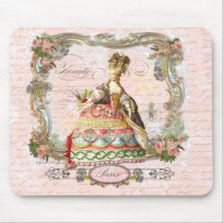 Marie Antoinette e Paris cor-de-rosa Mousepads