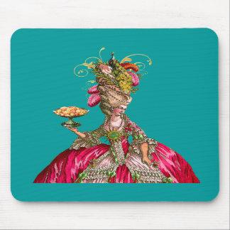 Marie Antoinette e pavão Mousepad