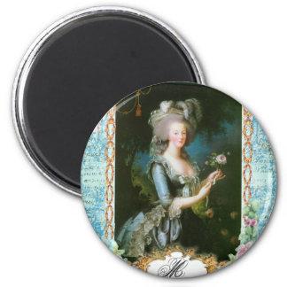 Marie Antoinette e rosas cor-de-rosa Imas De Geladeira