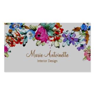 Marie Antoinette em cartões de visitas do ~ das fl