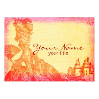 Marie Antoinette em cartões de visitas do por do s