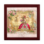 Marie Antoinette em Versalhes no rosa Estojo Para Jóias