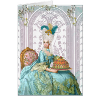 Marie Antoinette no Aqua Cartões
