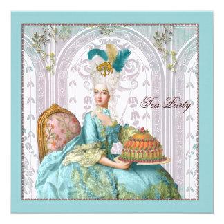 Marie Antoinette no Aqua com bolo Convites Personalizado