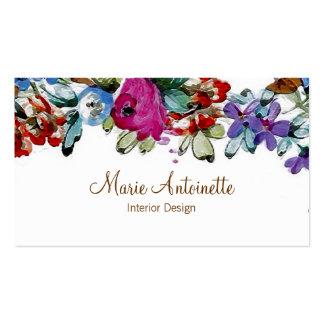 Marie Antoinette no cartão de visita do ~ das flor