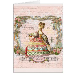 Marie Antoinette no rosa Cartao