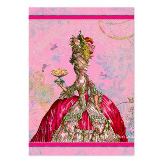 Marie Antoinette no rosa com pavão Cartoes De Visitas