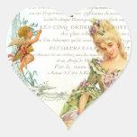 Marie Antoinette & pardal Adesivo De Coração