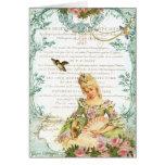Marie Antoinette & pardal Cartão Comemorativo