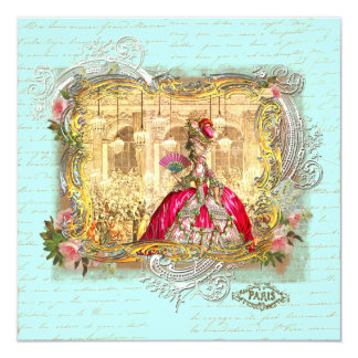 Marie Antoinette Party at Versailles Stationery Custom Announcement