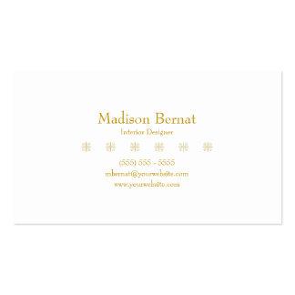 Marie - Goldenrod amarelo Cartão De Visita
