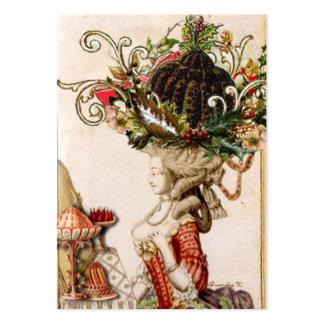 Marie lunático Antoinette deixou-os comer o pudim! Cartão De Visita Grande